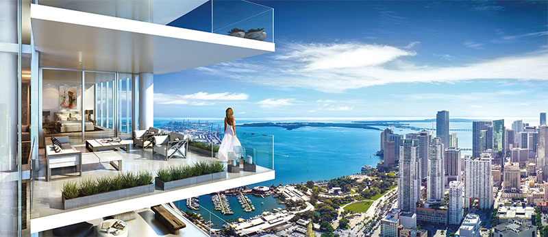 Paramount at Miami WorldCenter Residences in Miami, Outdoor Living Room