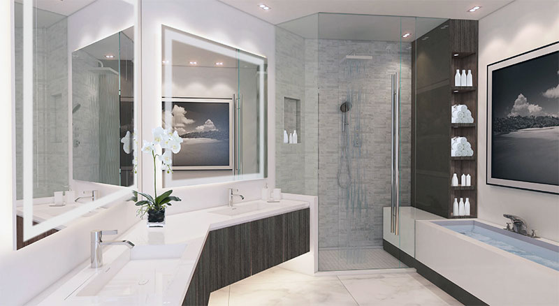 Paramount at Miami WorldCenter, Master Bathroom