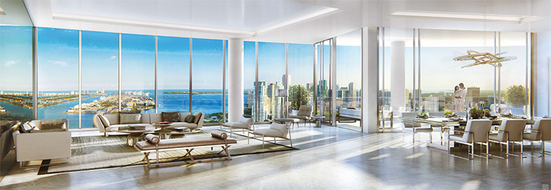 Paramount at Miami WorldCenter Residences in Miami, LivingRoom