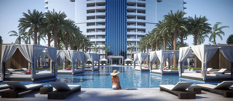 Paramount at Miami WorldCenter Residences in Miami, Resort Style Pool