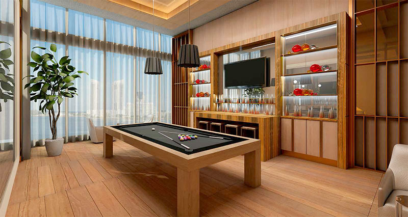 Prive, Private Island Residences in Aventura  - Billiard Room