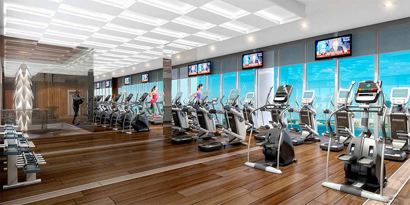 Prive, Private Island Residences in Aventura - Gym