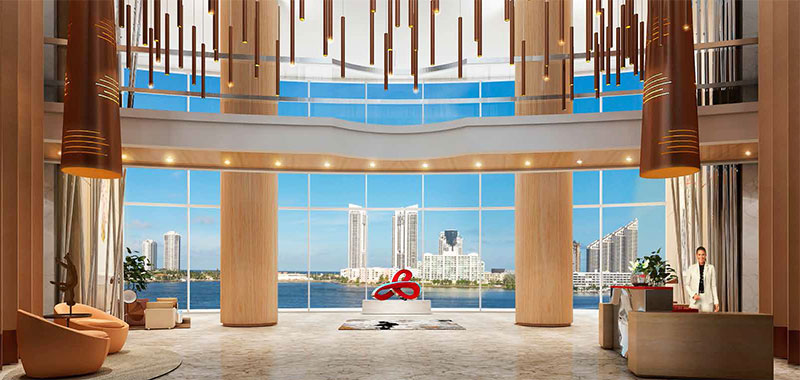 Prive, Private Island Residences in Aventura - Lobby