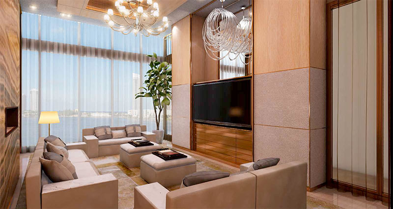 Prive, Private Island Residences in Aventura - Media Room