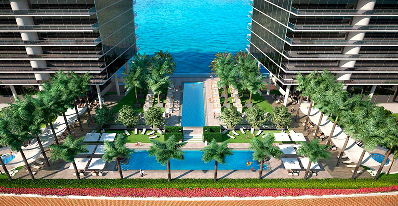 Prive, Private Island Residences in Aventura - Pool Terrace