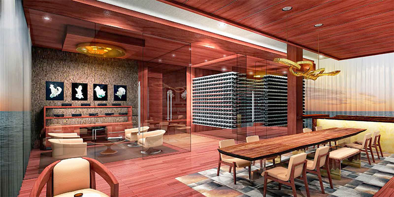 Prive, Private Island Residences in Aventura - Wine and Cigar Room