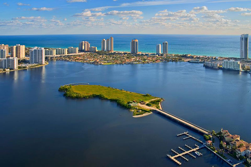 Prive, Private Island Residences in Aventura Map