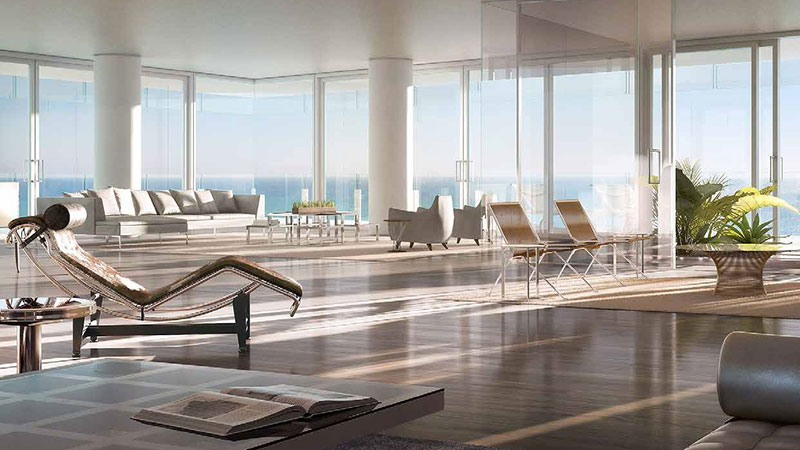 The Surf Club Four Seasons Residences In Miami Beach Living Room