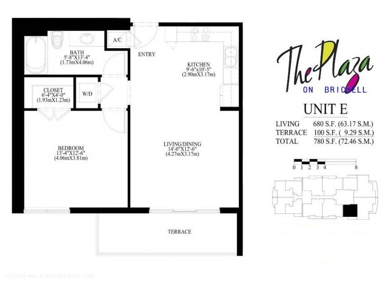 Infinity Brickell Floor Plans100 Open Split Plans