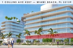 Miami Most Expensive Condo 1 Collins Ave #207, Miami Beach